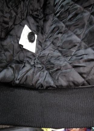 Kappa (оригинал) италия  короткая куртка  с капюшоном с мехом енота7 фото