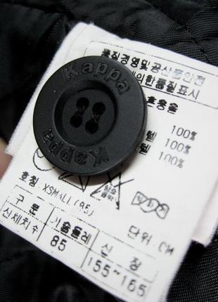 Kappa (оригинал) италия  короткая куртка  с капюшоном с мехом енота8 фото