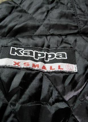 Kappa (оригинал) италия  короткая куртка  с капюшоном с мехом енота9 фото