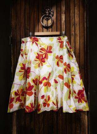 Monsoon. юбка на лето яркая миди расклешенная