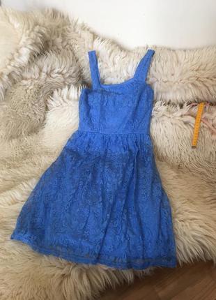 Милое синее платье atmosphere