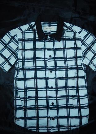 Стильная рубашка на мальчика 7 лет 122 см,100% хлопок,сток