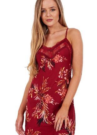 Ночнушка, платье для сна, нижнее белье, платье с кружевом