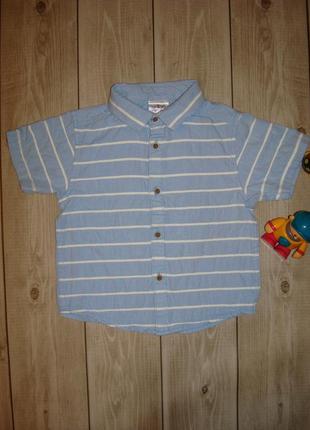 Детская рубашка в полоску, хлопковая на 2-3 года urban rascals