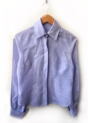 Льняная рубашка с запонками