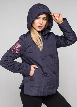 Куртка с вышивкой р.44-50| весенняя| опт от 3 ед.| весна 2019| бомбер