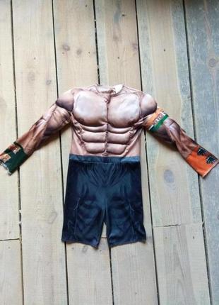 Карнавальный костюм мускулистый супергерой 5-6 лет