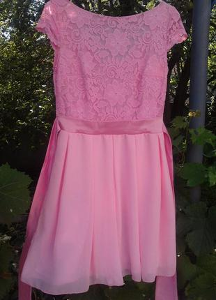 Новое розовое платьице в стиле «беби долл»