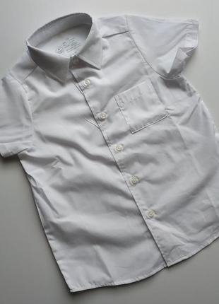 Белая рубашка на мальчика 4-5 лет германия