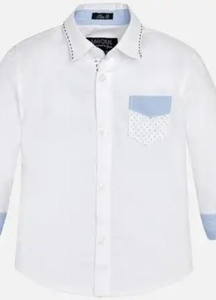 Стильна рубашка на 2-3года4 фото