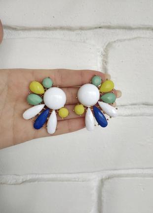 Весенние серьги разноцветные