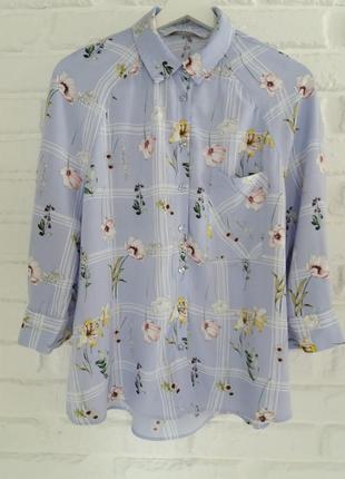 Стильная рубашка вискоза tu 10 ( m )   5.1