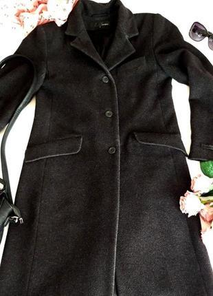 Пальто классическое графитового цвета h&m