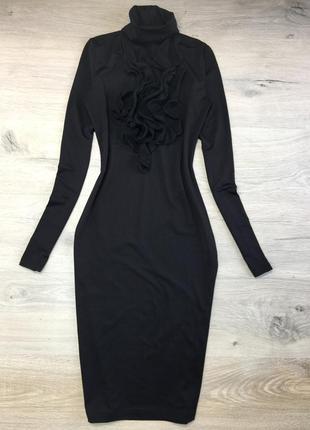 Чёрное платье гольф