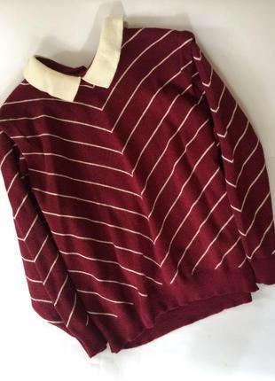 Крутой актуальный шерстяной свитер джемпер h&m оверсайз