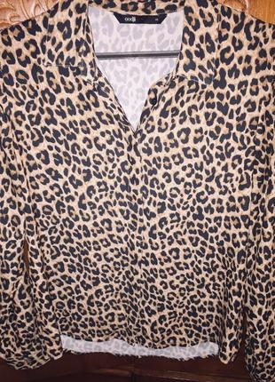 Рубашка с леапардовым принтом