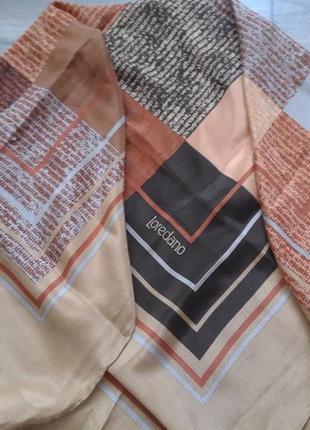 100% шелк. шов рауль. стильный платок  loredano. оригинал