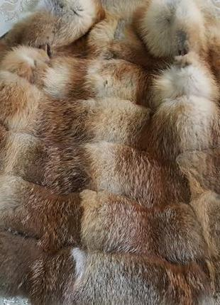 Модный жилет из натуральной огненной  лисы на утеплителе разм 36-38