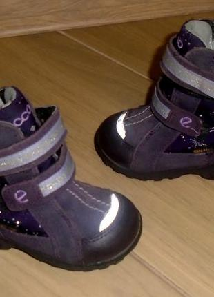 Ecco gore tex зимние термо ботинки 20 р