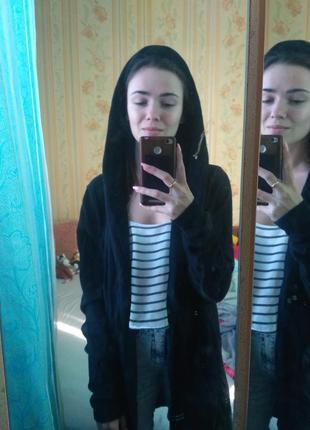 Мантия / накидка bershka с капюшоном и карманами