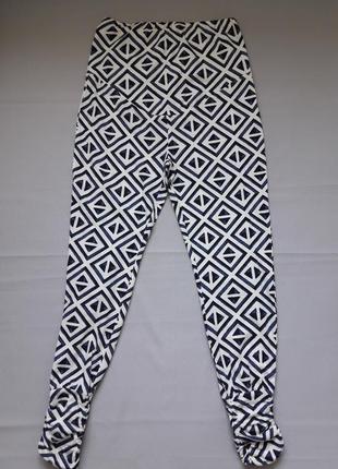 Трикотажные хлопковые лосины леггинсы для беременных принт орнамент esmara