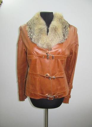 Куртка krupon натуральная кожа размер м-л