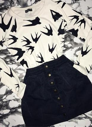 Джинсовая юбка на пуговицвх