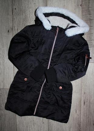 Стильная модная куртка пальто черное v by very 5-6 лет, рост 110-116 см.