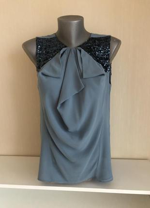 Блузка с паетками maje