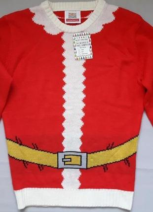 Крутой вязаный свитер в новогодний принт nationale postcode loterij