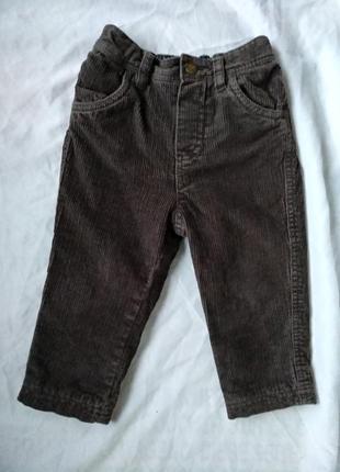 Джинсы esprit вельветовые на х/б подкладке р.80 мальчику 12-18мес штаны брюки демисезон