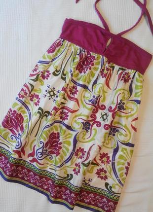 Zara trafaluc фирменный летний легкий сарафан#платье#туника в цветы, р. xs-s.