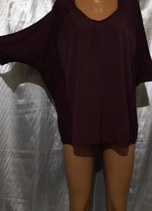 Стильная футболочка цвета баклажан