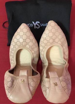 Кожаные балетки yosi samra vienna