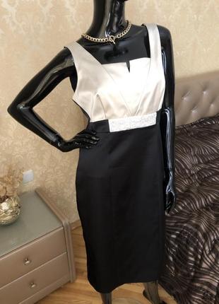 Платье нарядное, с жемчугом, бренд your sixth sense, размер l