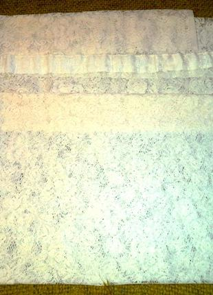 Ажурная плотная тюль в стиле прованс
