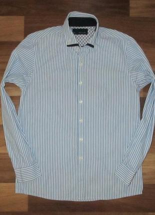 Котоновая рубашка в полоску фирмы некст на 11 лет