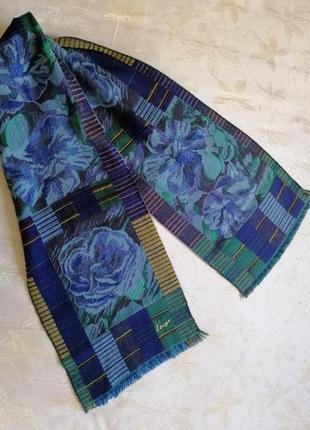 Kenzo винтажный шерстяной шарф