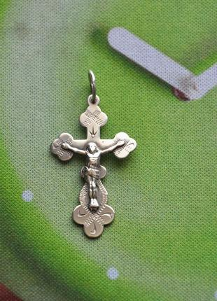 Крестик серебро 925 проба