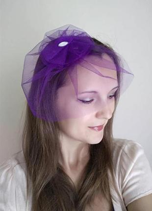 Вуалетка №1шляпка для девичника, праздников