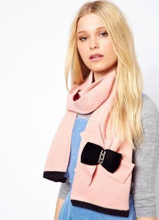 Alice hannah новый! брендовый#шерстяной#пудровый теплый шарф#шарфик, чистая шерсть#ангора.
