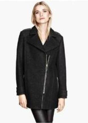 Пальто косуха шинель h&m шерсть