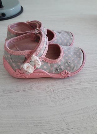 Текстильные туфли для девочки размер 22 viggami (вигами) польша