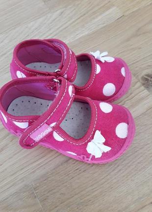 Текстильные туфли тапочки для девочки размер 22 viggami (вигами) польша
