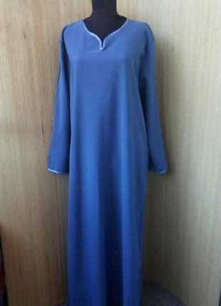 Платье рубаха / базовое длинное платье длинный рукав / абая l/xl