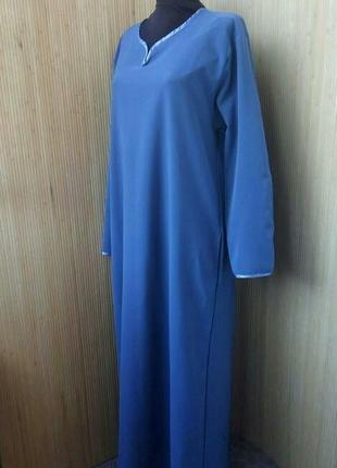 f0a69d4d6ac ... Платье рубаха   базовое длинное платье длинный рукав   абая l xl2 фото  ...