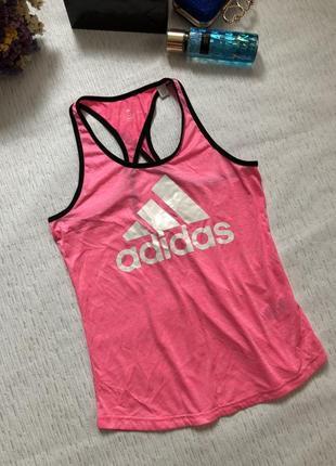 Adidas неоновая розовая майка 12-14 размер / оригинал