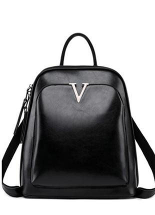 Стильный кожаный рюкзак-сумка