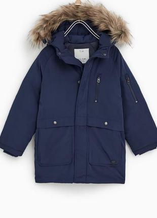 Зимняя курточка на мальчика от популярного бренда zara пуховик пух\перо