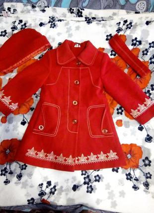 """Пальто для дівчинки фірми """"zalexa"""" на ріст 122-134"""